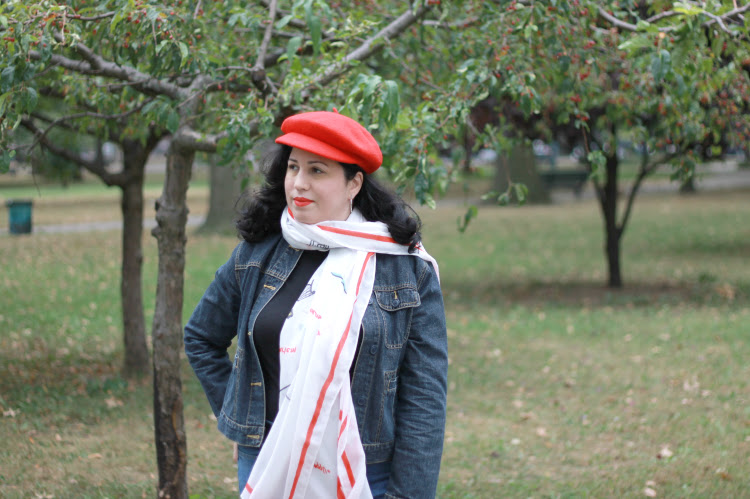 A Vintage Nerd, Scarf Tutorial, Vintage Blog, Retro Fashion Blog, Vintage Inspired Fashion, Beret Fashion