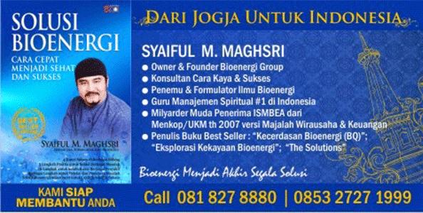 HM Syaiful M. Maghsri Penemu dan Formulator Ilmu Bioenergi