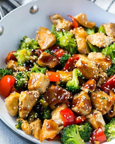 TERIYAKI CHICKEN AND VEGETABLES #vegetables #teriyaki