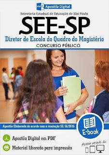 Apostila SEE - Secretaria da Educação-SP para Diretor de Escola.
