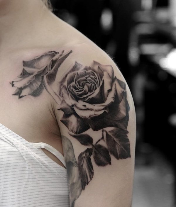 roses tattoos ideas 2. Black Bedroom Furniture Sets. Home Design Ideas