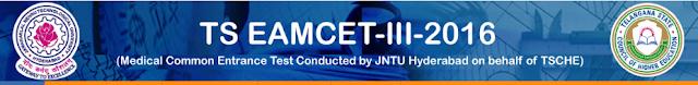 TS EAMCET 3 Results 2016 Rank & Mark Telangana