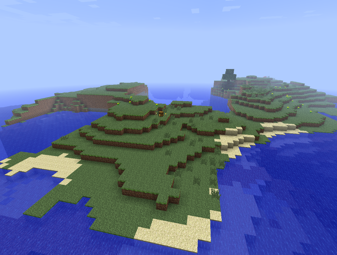 Minecraft FTB Island With One Tree