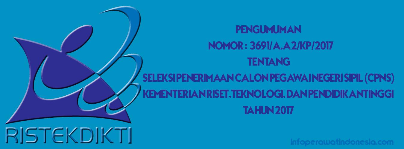 Pengumuman CPNS Kemristekdikti 2017 & Dosen Keperawatan (Syarat Cara Pendaftaran)