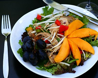 Asian Chicken Salad, an easy salad supper for summer. Recipe, tips, nutrition, Weight Watchers points @ KitchenParade.com.