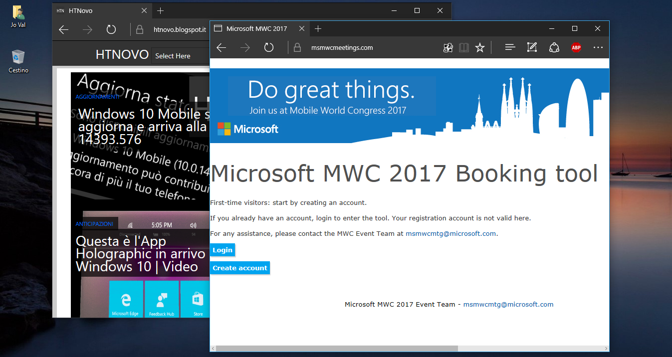 Microsoft sarà al Mobile World Congress 2017? HTNovo