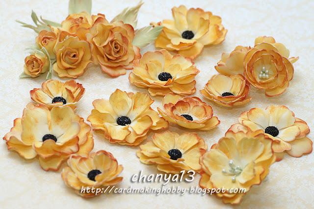 164. Jesienne kwiaty z foamiranu