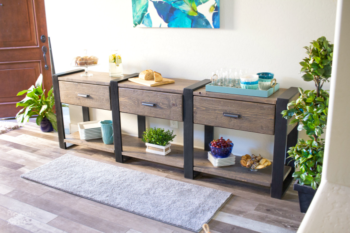 Rustic Modern Knock Off Console Table