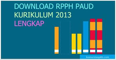 Contoh RPPH PAUD Kurikulum 2013 Semester 1 dan 2 (Lengkap) Tahun 2018