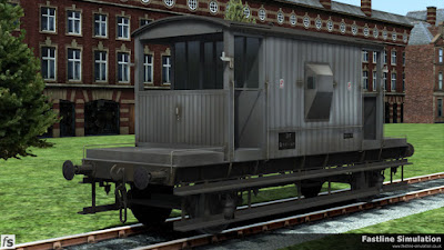 Fastline Simulation: A weathered dia. 1/506 unfitted 'standard' British Railways 20T brake van.