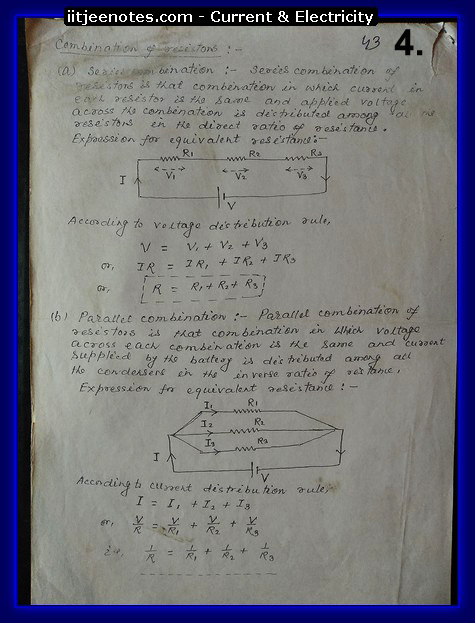 current and electricity notes physics class 12