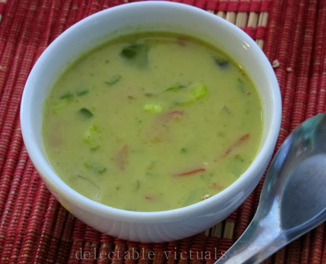 spicy green curry thai split pea soup vegetarian delectable victuals