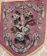 Example of Victorian grisaille beadwork