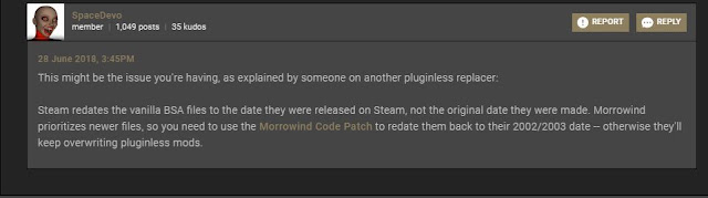 Morrowind's Landscape Retexture Mod Troubleshoot