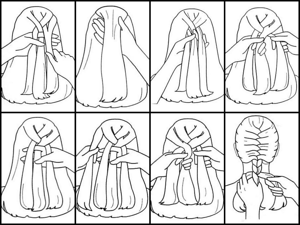 how to fishtail braid diagram - photo #14