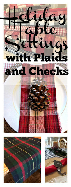 Holiday Table Settings with Plaids and Checks