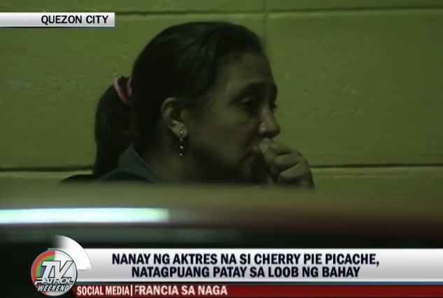 Cherry Pie Picache's Mother named Zenaida Sison found Dead in her House Last Friday, Sept 19, 2014