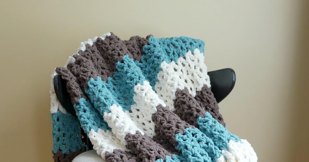 Fiber Flux Free Crochet Pattern Family Room Throw