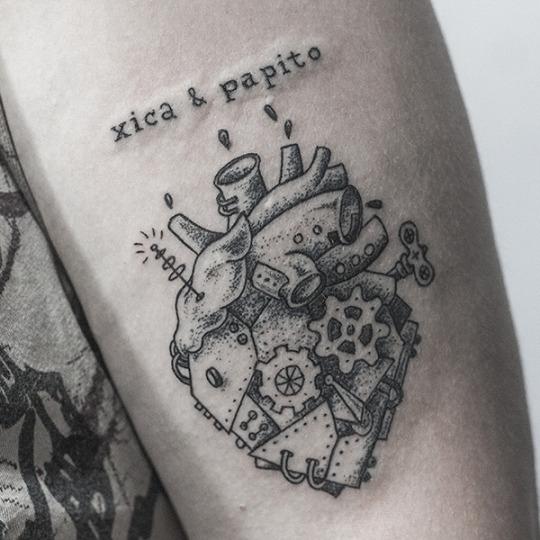 Amazing Steampunk Heart Tattoos