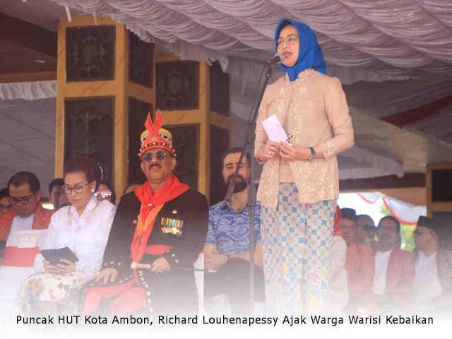 Puncak HUT Kota Ambon, Richard Louhenapessy Ajak Warga Warisi Kebaikan