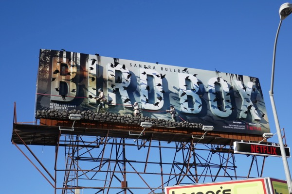 Bird Box movie billboard