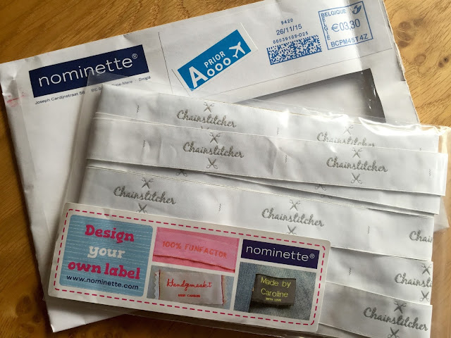 Diary of a Chain Stitcher: Custom Woven Clothing Labels from Nominette - Great Sewing Gift!