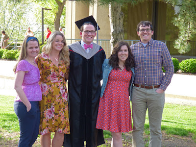 Ryan's Graduation - from Left to Right - Stephanie, Kaelyn, Ryan, Anna and Michael