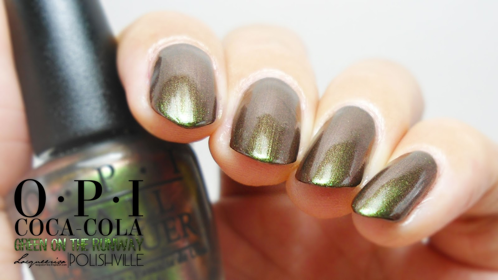 OPI Green On The Runway, LacqueerisaXPolishville