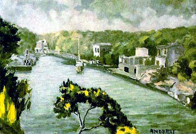 Lluís Andreu Alcover, Cala Figuera, Mallorca en Pintura, Mallorca pintada, Paisajes de Mallorca