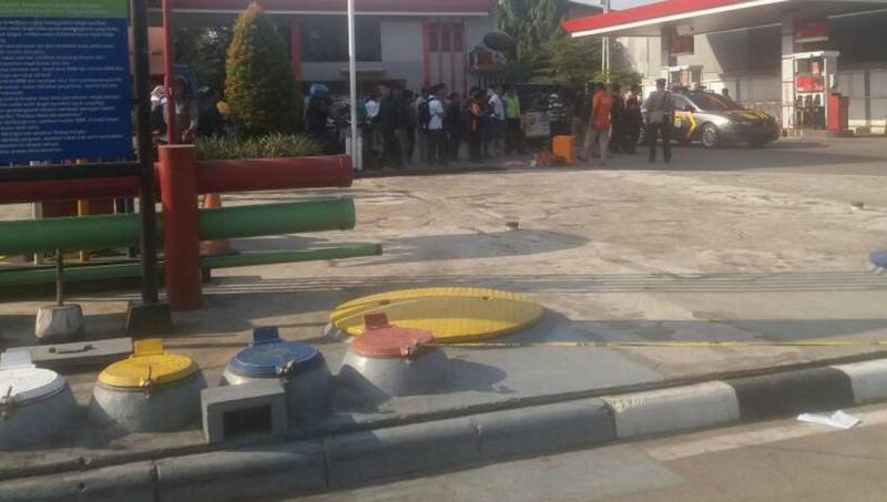Lokasi perampokan di Cengkareng