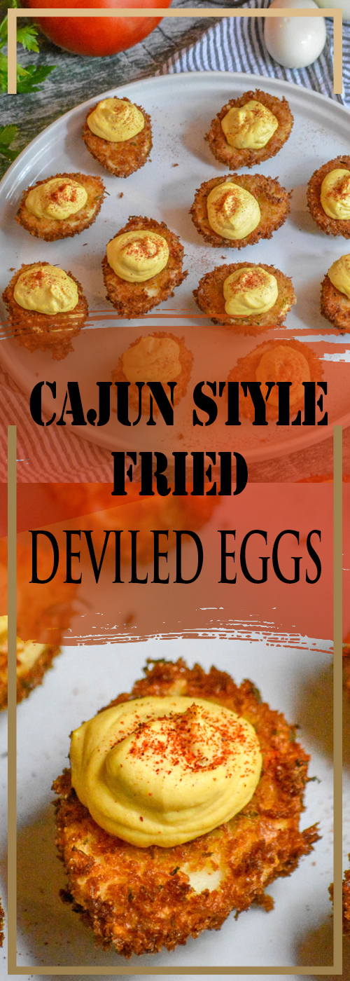 CAJUN STYLE FRIED DEVILED EGGS RECIPE