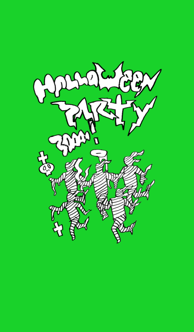 Halloween party (green)