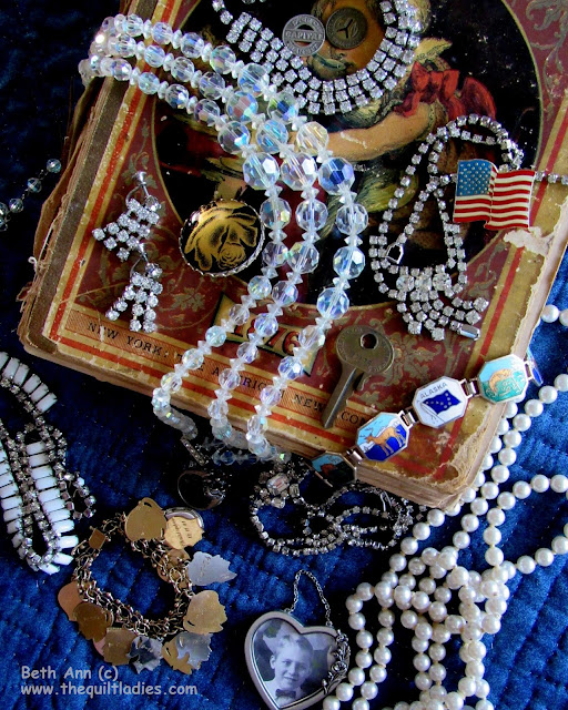 """""""GRANDMA'S Gifts"""" Jewels and a book"""