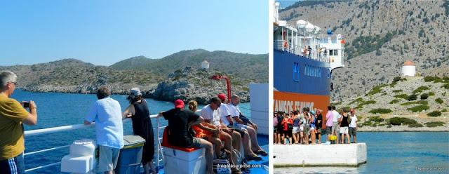 Navegação de Rodes à Ilha de Sými, no Dodecaneso, Grécia