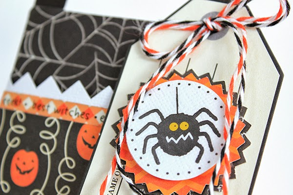 Spooky Halloween Table Decor Treat Bag by Juliana Michaels detail