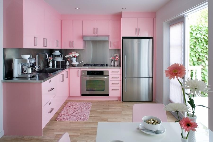 Interior Dapur  Minimalis  Dengan Warna  Pink WAJIB BACA