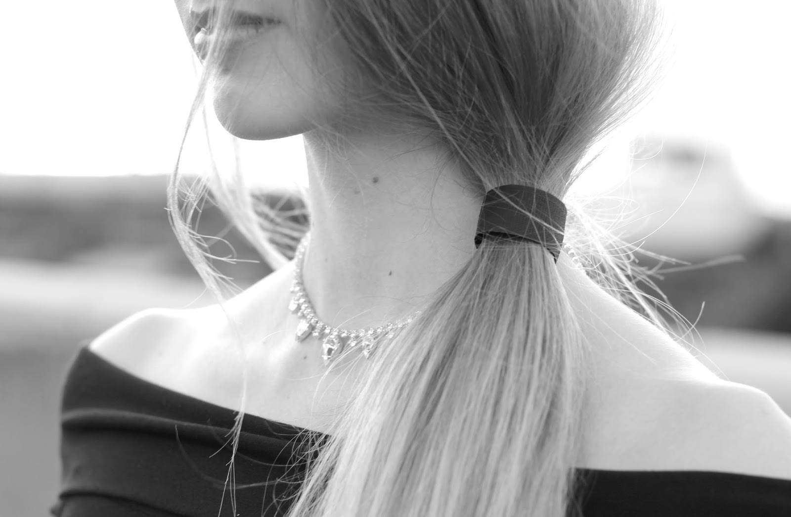 Dauphines of NY silver diamante choker