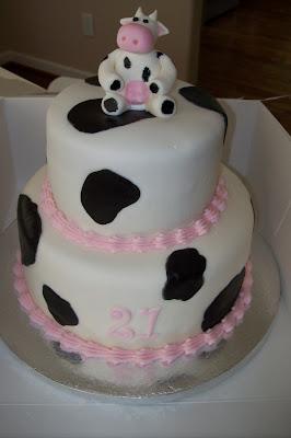Sugar Trail Cow Themed Birthday Cake