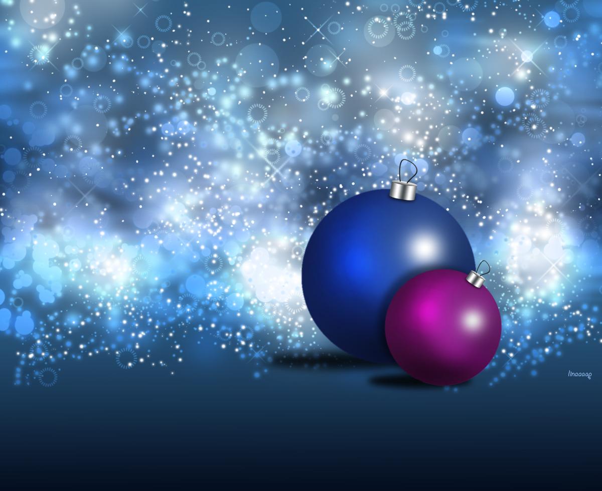 χριστουγεννιάτικες μπάλες με λαμπερό φόντο