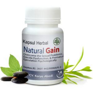 Natural Gain - Obat Kuat Herbal Untuk Pria Stres