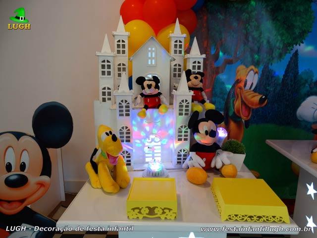 Mesa decorativa provençal do Mickey - Aniversário infantil
