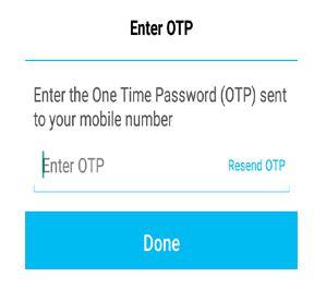 Paytm OTP Enter Page