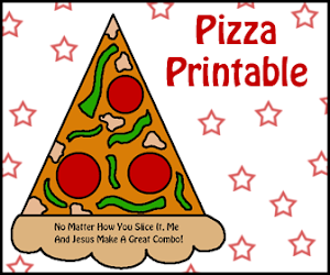 Pizza Slice Sunday School Craft Idea
