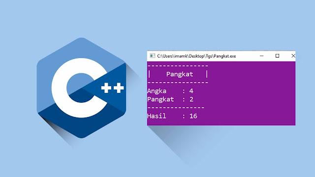Program C++ Menghitung Pangkat Tanpa Menggunakan pow (Rekursif)