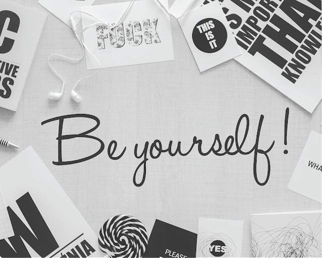 Kata mutiara jadilah diri sendiri motivasi hitam putih be yourself