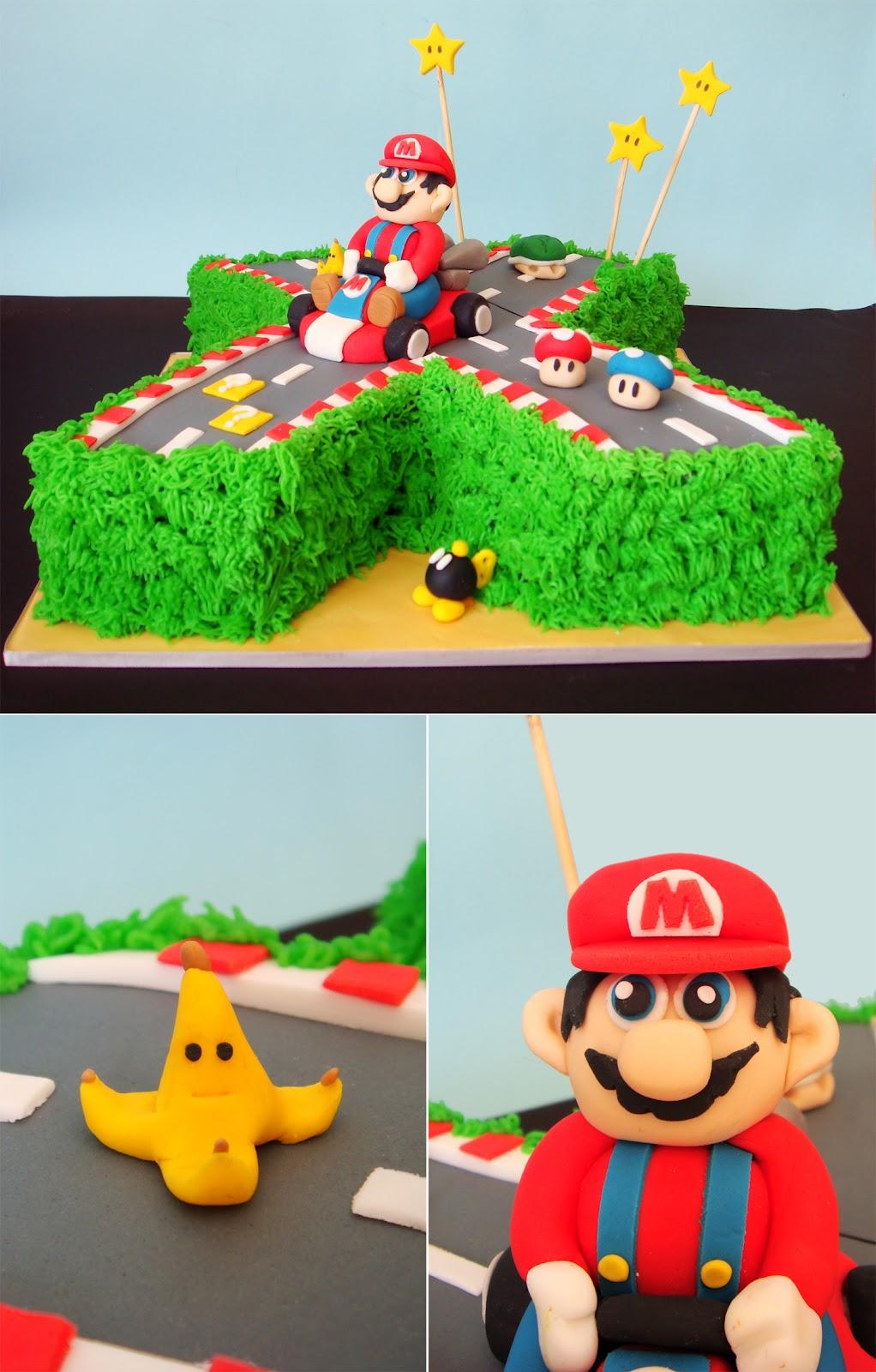 butter hearts sugar mario kart birthday cake. Black Bedroom Furniture Sets. Home Design Ideas