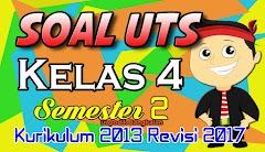 Download SOAL UTS Kelas 4 Semester 2 Kurikulum 2013 Revisi 2017