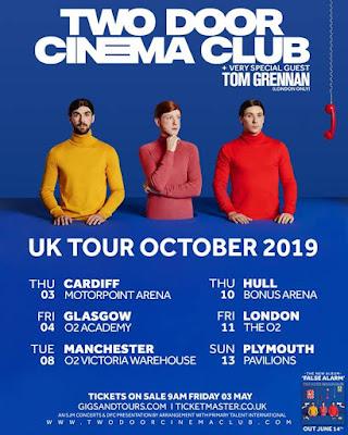 TWO DOOR CINEMA CLUB announce October 2019 UK Arena Tour