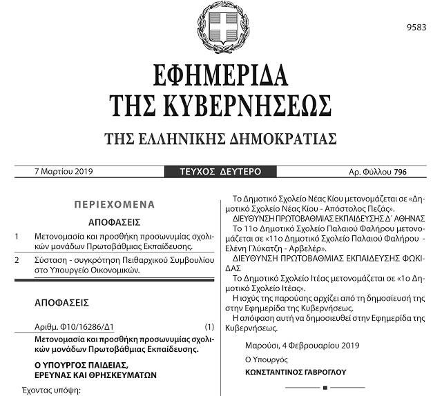 Μπλόκο Καλογρέζας: Ο υπουργός Παιδείας Κώστας Γαβρόγλου δοξάζει τον μεγαλύτερο μαυραγορίτη της Κατοχής