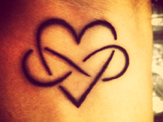 Lovely Heart Infinity Tattoo